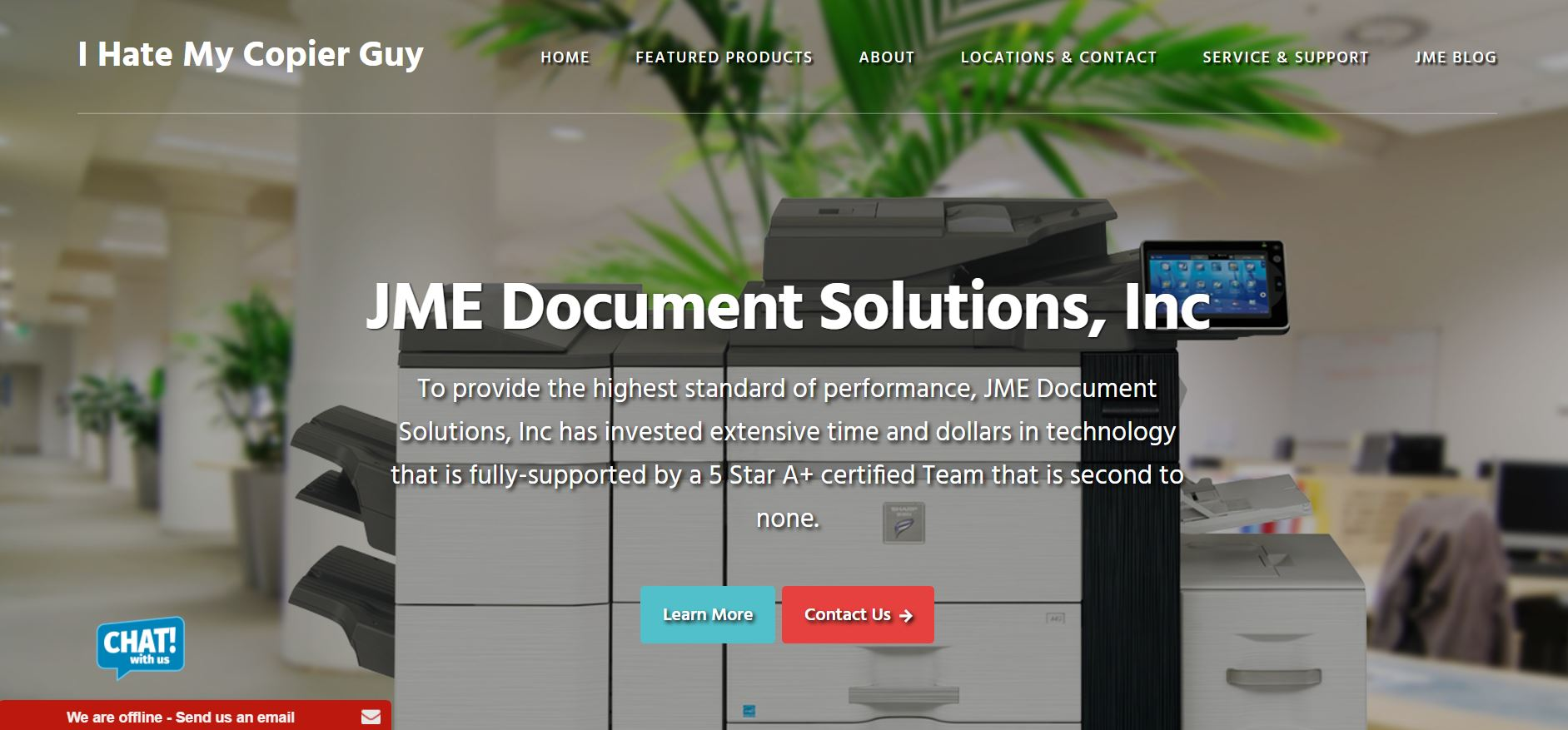 JME Document Solutions - MFP Company located in Nanuet, NY. Offering Sharp Multi-function printer sales and service. www.jmedocumentsolutions.com